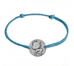 """Bracelet or gris 375/1000 La Fée Galipette """"Blagueur"""" B9004"""
