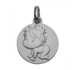 """Médaille or gris 375/1000 La Fée Galipette """"Blagueur"""" P9023"""